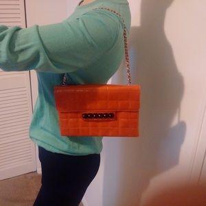Authentic Chanel chain strap shoulder bag
